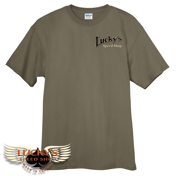 Lucky's Speed Shop 3 Window T Shirt